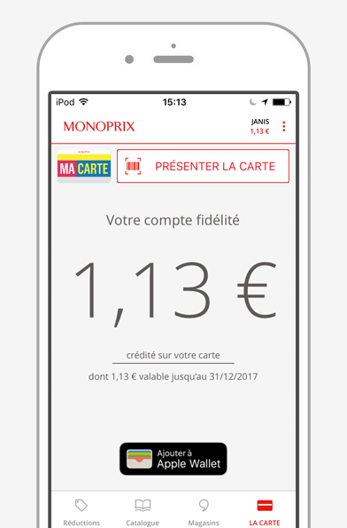 Application Monoprix